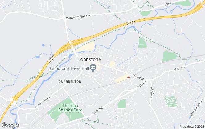Map for PennyLaneHomes.com, Johnstone