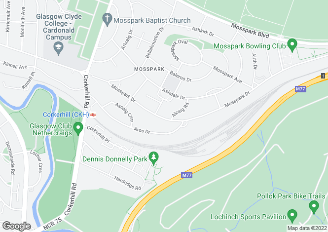 Map for 406 Mosspark Drive <br> Mosspark, Glasgow