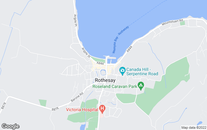 Map for BUTE PROPERTY, Rothesay