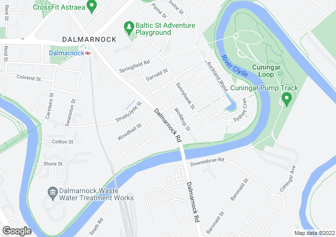 Map for Dalmarnock Road, Dalmarnock
