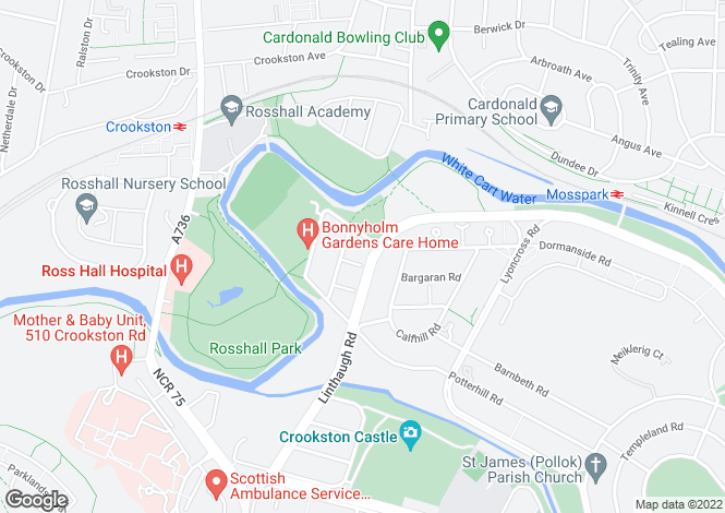 Map for 8 Whinhill Gardens, Glasgow, G53 5RJ