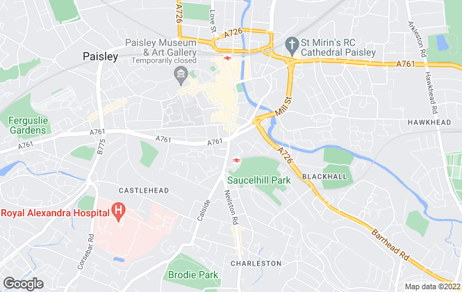 Map for Castle Residential, Paisley (Lettings)