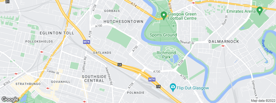 Map for Richmond Gate development by Bett Homes Scotland