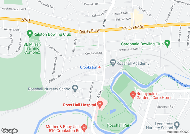 Map for Lochmaben Road, Crookston, Glasgow