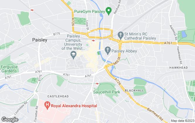 Map for Caledonia Bureau, Paisley