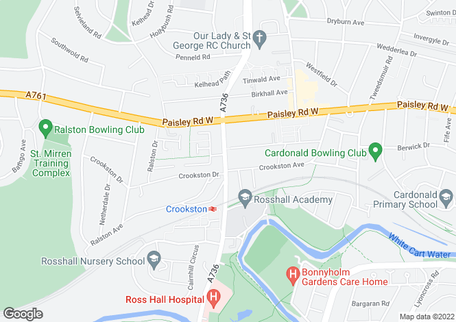Map for 69 Crookston Road, Crookston, Glasgow, G52 3QF