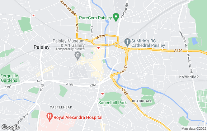 Map for Countrywide, Paisley
