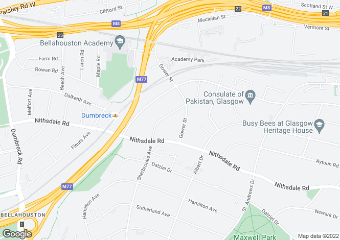 Map for Sherbrooke Drive,Pollokshields,GLASGOW,Lanarkshire,G41 5AA,Scotland