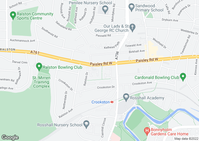 Map for 23 Crookstonhill Path, Crookston, Glasgow, G52 3LR