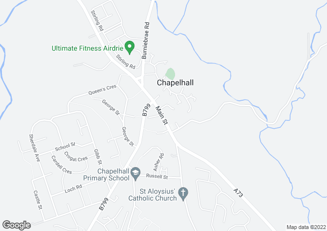 Map for Main Street <br>Chapelhall <br> Airdrie, Lanarkshire