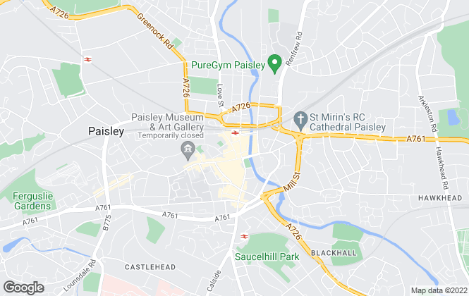 Map for Patch Property, Renfrewshire - Sales