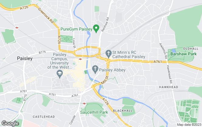 Map for Belvoir, Paisley