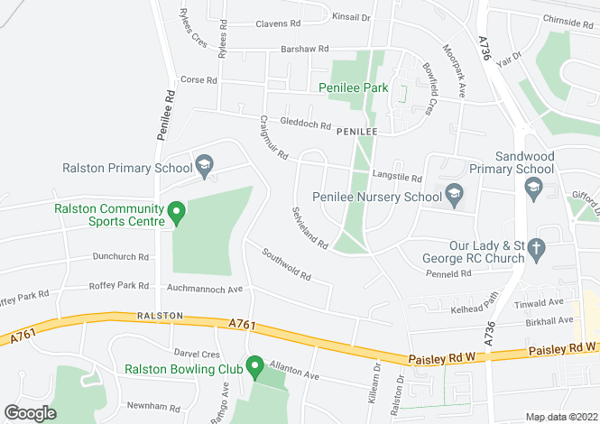 Map for 42 Selvieland Road <br> Penilee, Glasgow