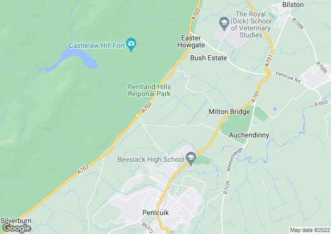 Map for Pennyfield, Penicuik, Midlothian