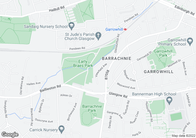 Map for Viewfield Ave, Garrowhill, Glasgow
