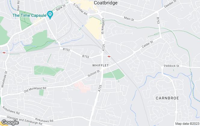 Map for MKM Estate Agents Ltd, Coatbridge