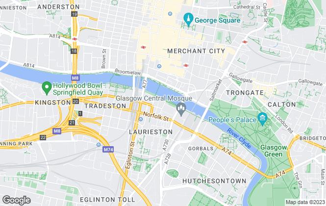Map for WM Cumming Turner & Watt, Glasgow