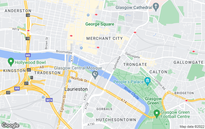 Map for Martin & Co, Glasgow City - Lettings & Sales
