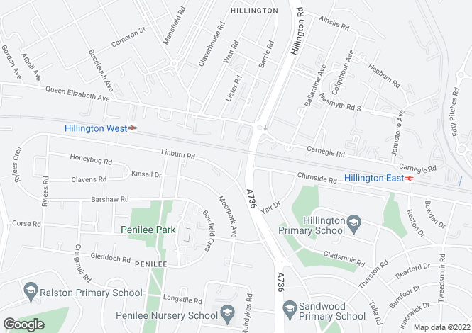 Map for Linburn Place, Hillington, G52