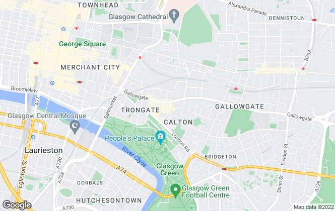 Map for Hot Property, Glasgow