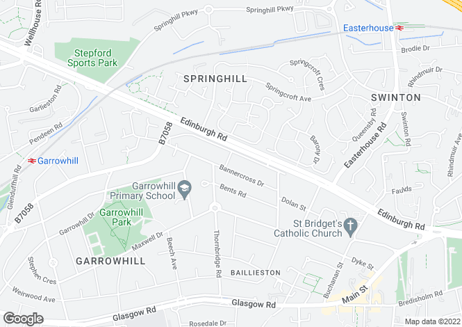 Map for Thornbridge Avenue, Garrowhill, Glasgow