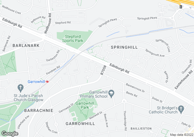 Map for Barrachnie Place,