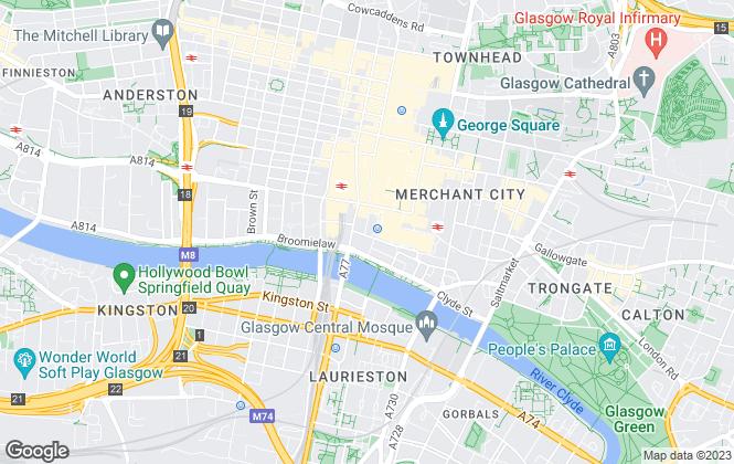 Map for Urquhart Developments (Scotland) Limited, Glasgow