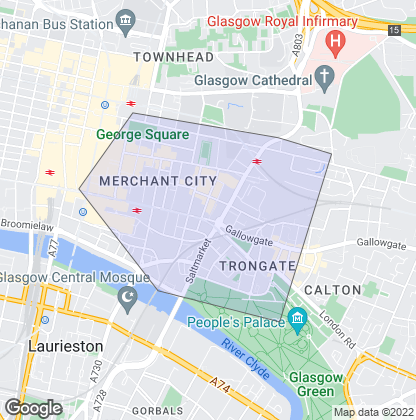 Map of property in Merchant City