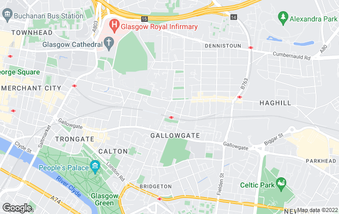 Map for 1-2-Let, Glasgow - Lettings