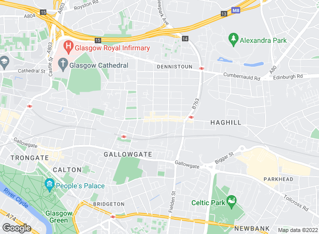 Map for 1 Stop Properties , Glasgow