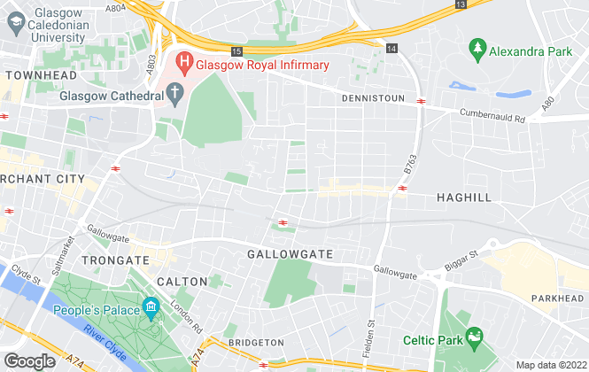 Map for Tip Top Homes, Glasgow