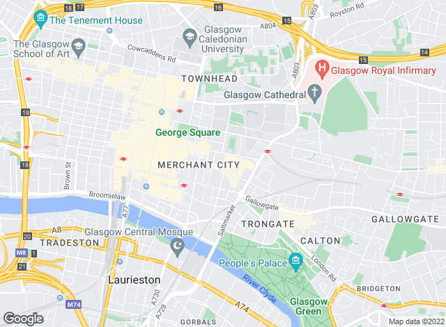 Map for Slater Hogg & Howison, City Centre, Glasgow