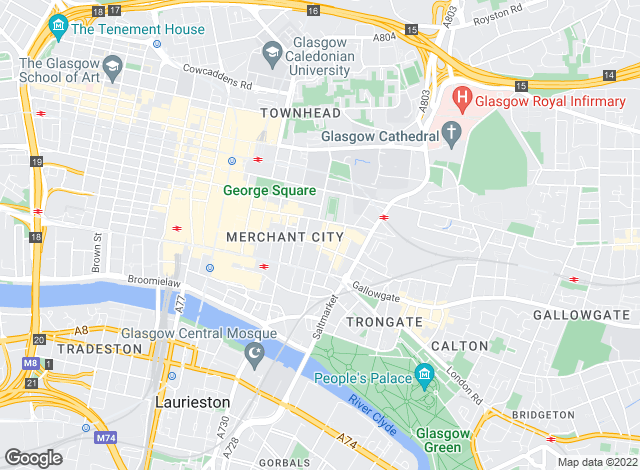 Map for Countrywide, Glasgow City Living