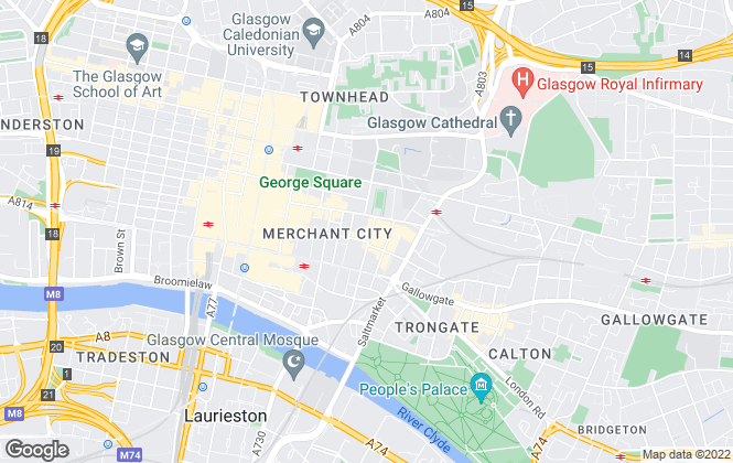 Map for Slater Hogg & Howison Lettings, Glasgow