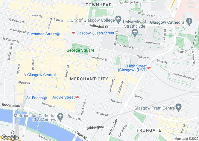 Map for Ingram Street, Merchant City
