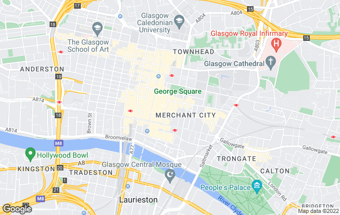 Map for Lindsays, Glasgow