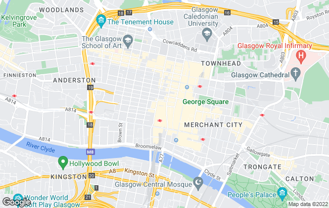 Map for Miller Samuel Hill Brown LLP, Glasgow