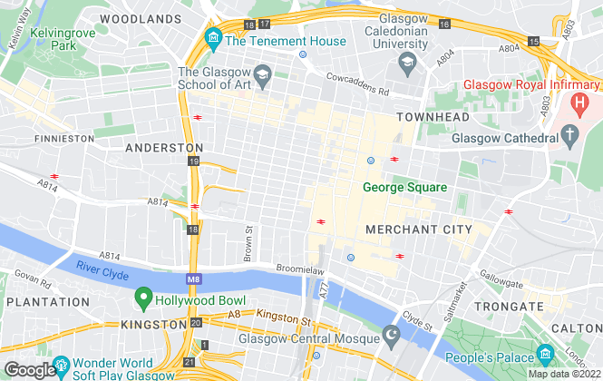 Map for Lambert Smith Hampton, Glasgow