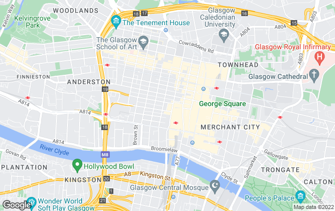 Map for Knight Frank, Glasgow