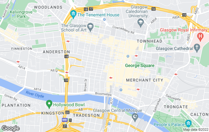 Map for Knight Frank, Glasgow - Commercial