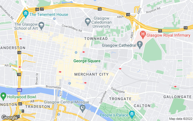 Map for Minerva Homes Ltd, Glasgow