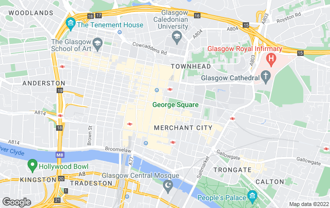 Map for HARVEY LETS, Glasgow