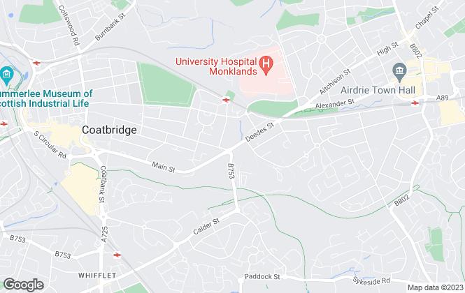 Map for On The Move Estate Agents, Coatbridge