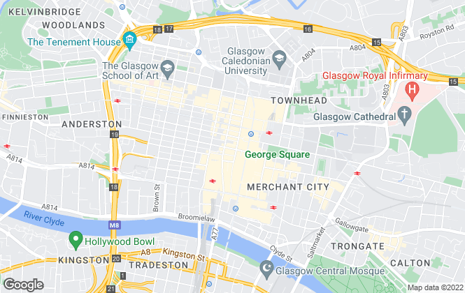 Map for Shepherds Commercial, Glasgow
