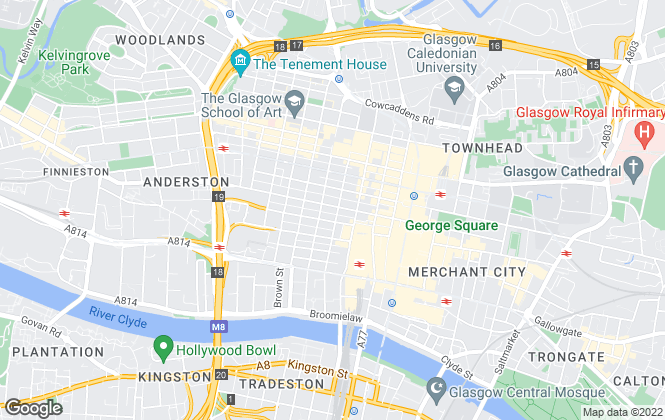 Map for CBRE Limited (Scotland), Glasgow