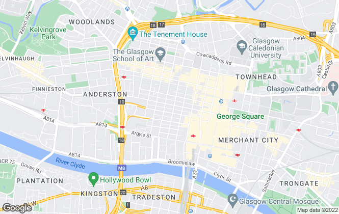 Map for Cushman & Wakefield LLP, Glasgow