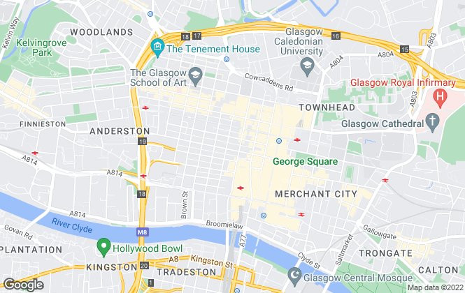 Map for Robb Residential, Glasgow