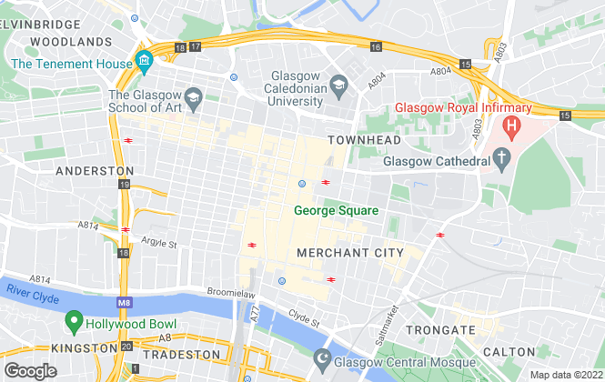 Map for The Estate Agency Company, Glasgow
