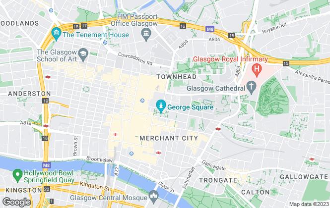 Map for Mitchells Roberton Limited, Glasgow