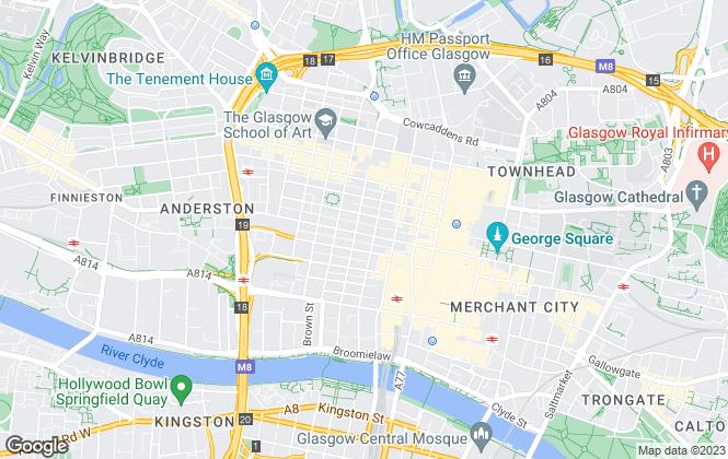 Map for Miller Beckett & Jackson, Glasgow